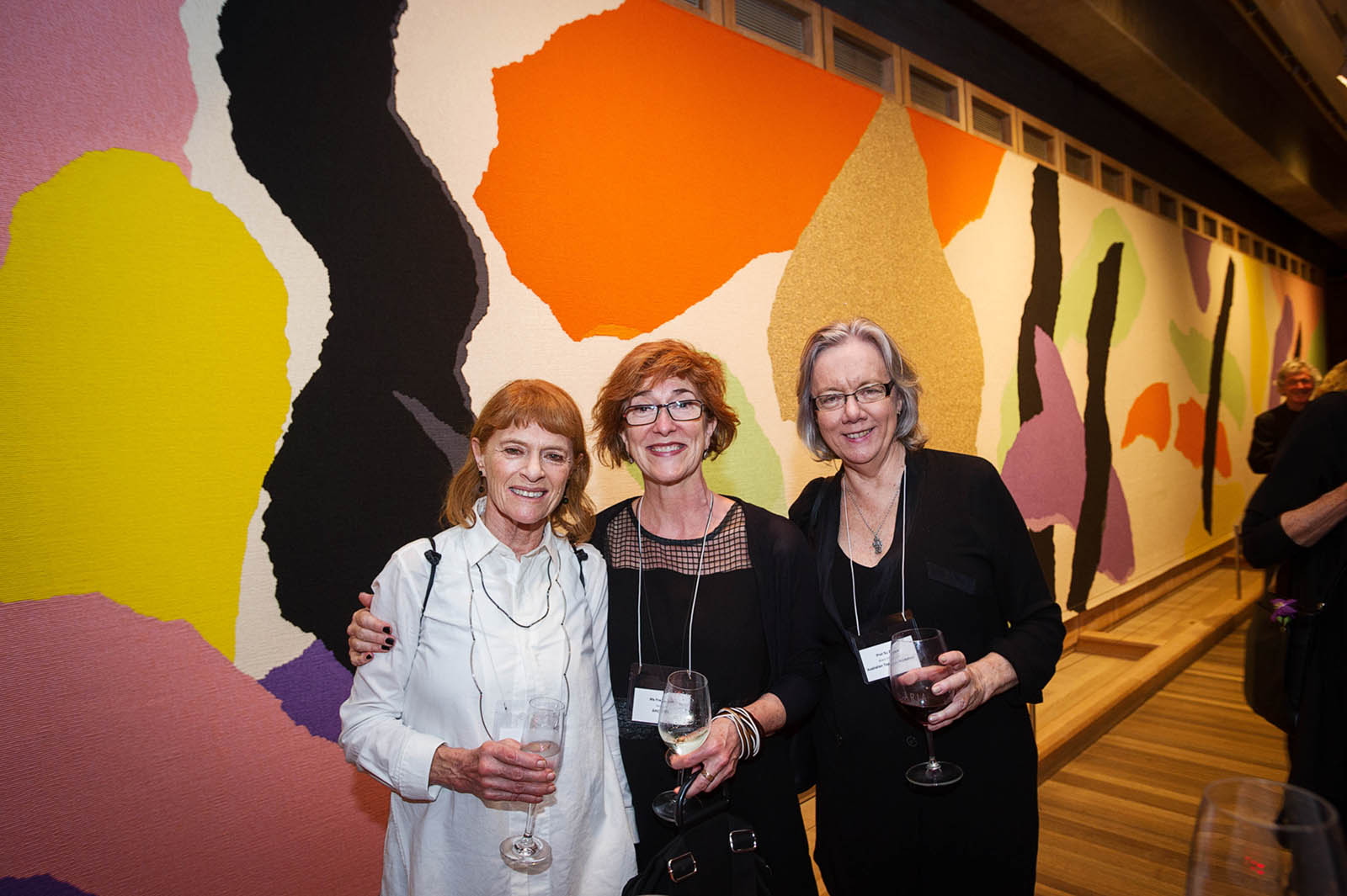 Left to right: Janet Laurence, Fran Clark and Pro Vice Chancellor Su Baker AM at the Utzon Room, Sydney Opera House. Photo: Petri Kurkaa