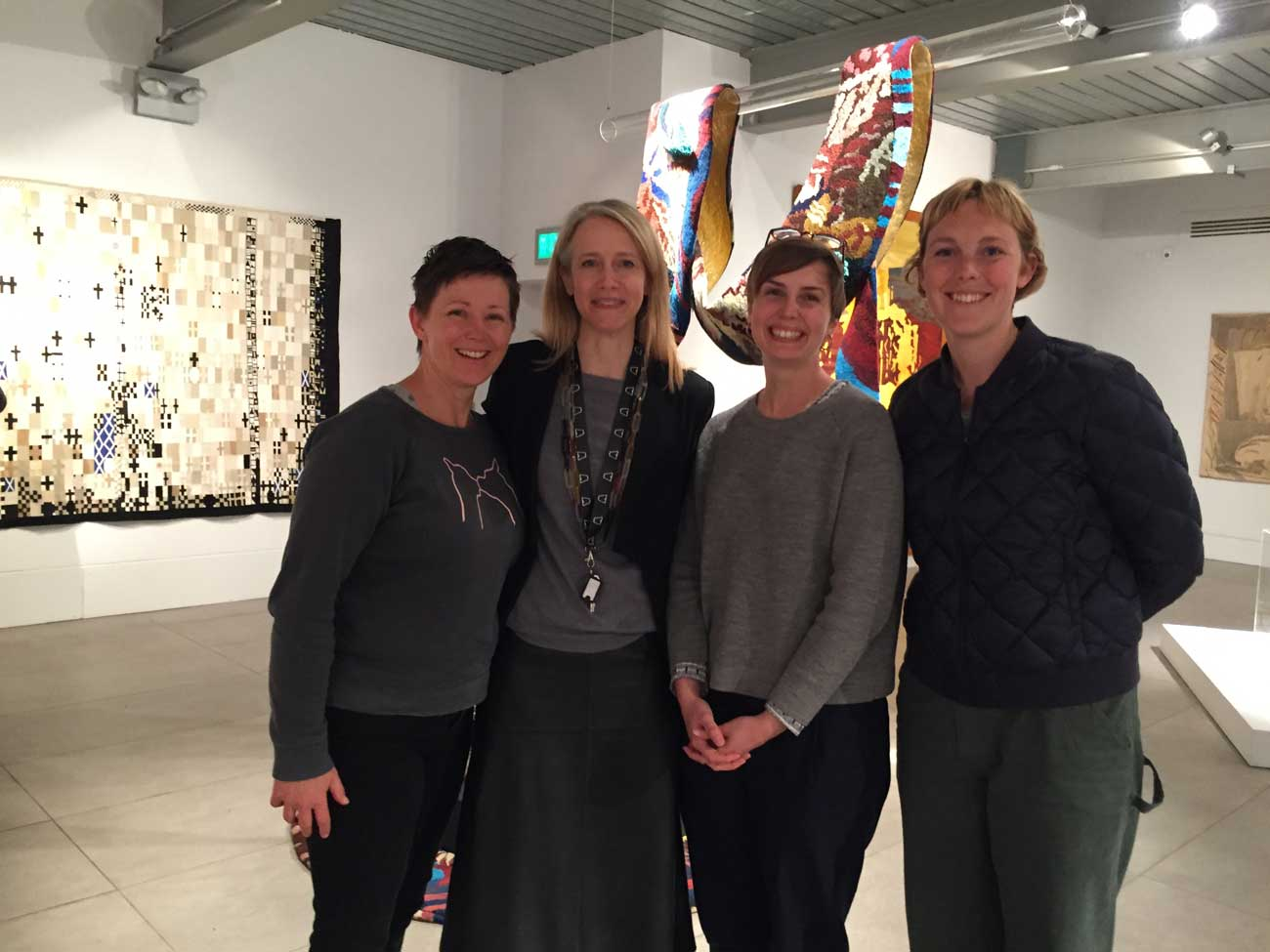 ATW Weaver Interns with Celia Joicey, Director of Dovecot Studios