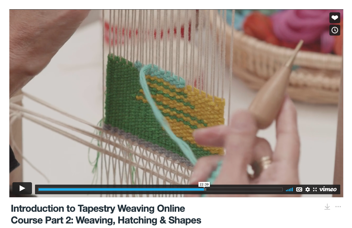 ATW Introduction to Tapestry Weaving Online Course