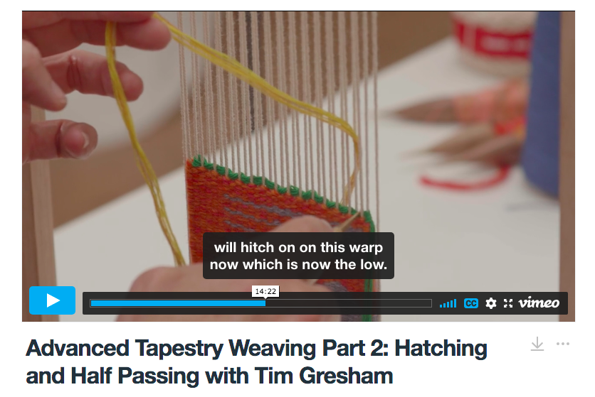 Advanced Tapestry Weaving Online Course Part 2