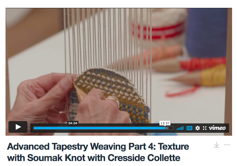 Advanced Tapestry Weaving Online Course Part 4