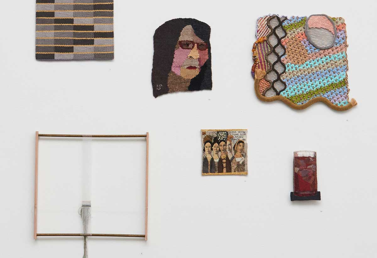 Install view of the 2017 Kate Derum and Irene Davies Award at Australian Tapestry Workshop