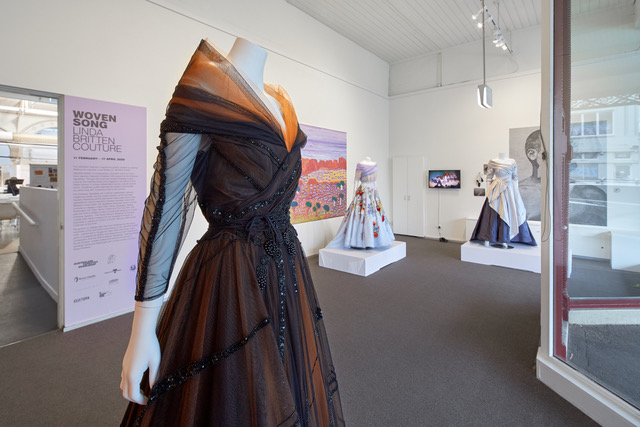 Woven Song: Linda Britten Couture Exhibition. Photo by Jeremy Weihrauch.