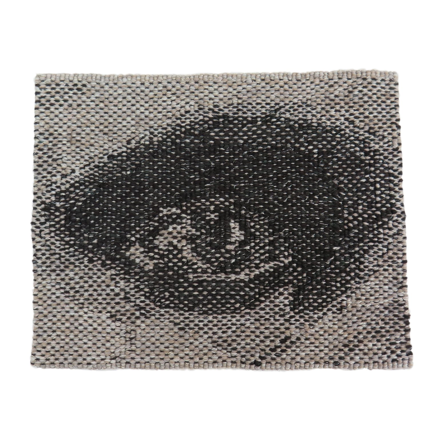 'Miili' Edition #6, 2019, designed by Brook Andrew, woven by Pamela Joyce. Wool, cotton, Lurex. 23.2 x 28.6 cm