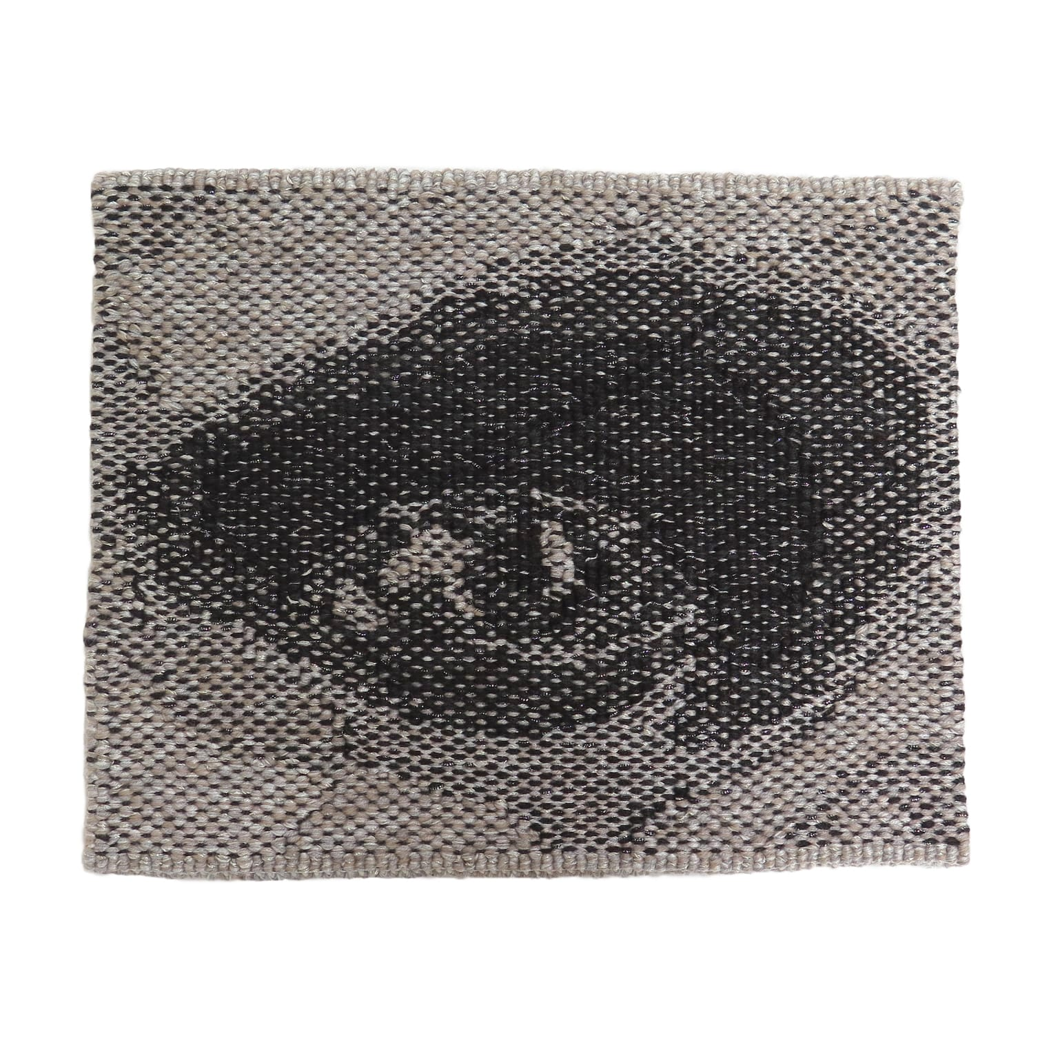 'Miili' Edition #7 designed by Brook Andrew in 2019, woven by Chris Cochius, wool, cotton, Lurex, 23.2 x 29.4cm.