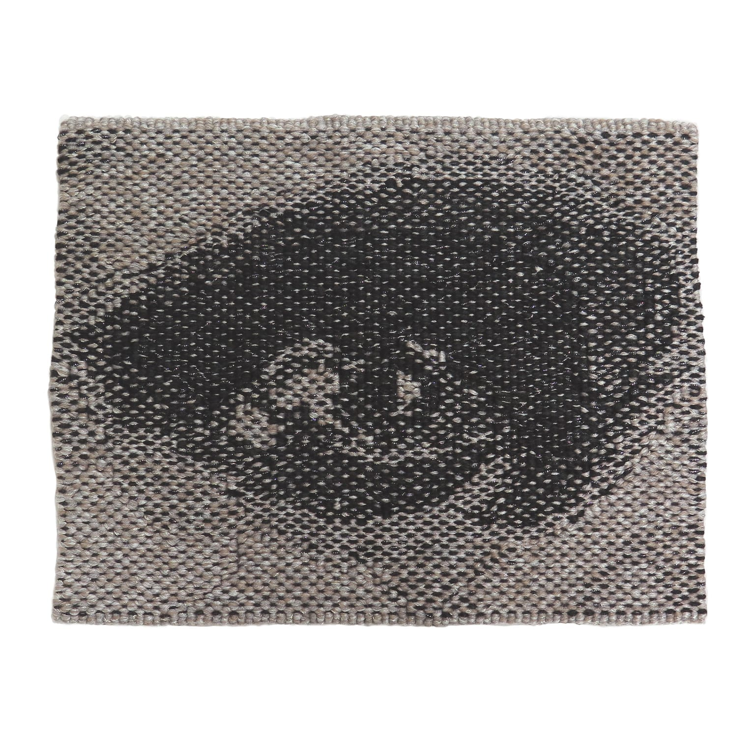 'Miili' Edition #9 designed by Brook Andrew in 2019, woven by Karlie Hawking, wool, cotton, Lurex, 23.2 x 29.4 cm. Edition of 10 + 2A/P.